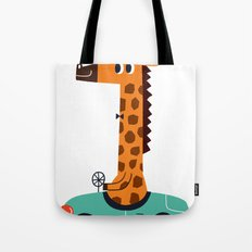 giraffe driver Tote Bag