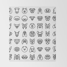 CUTE DOGS / PUPPIES PATTERN Throw Blanket