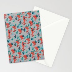 PICKING CACTUS -gray Stationery Cards