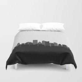 City Skylines: Pittsburgh (Alternative) Duvet Cover