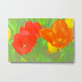 Etched Tulips 4 Metal Print