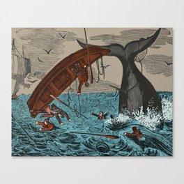 Whalers  Vintage Ocean Art Canvas Print