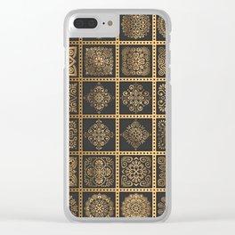 Copper Mandala Quilt Clear iPhone Case
