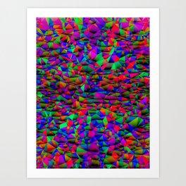 Colorful Triangular Entropy, Version Vivid Art Print