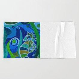 Seahorse Sea tote Beach Towel