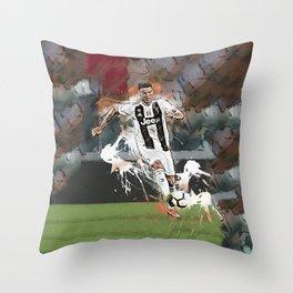 Cristiano Abstract Art Throw Pillow