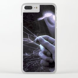 Creepy Halloween Scene Clear iPhone Case