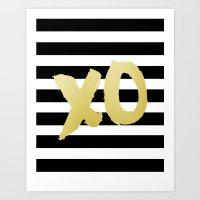 Modern Wall Art,XoXo, Gossip Girl, Girls Room Decor,Gold Print,Gold Foil,Kisses And Hugs Art Print