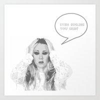 ryan gosling Art Prints featuring Ryan Gosling You Said? by Sundell