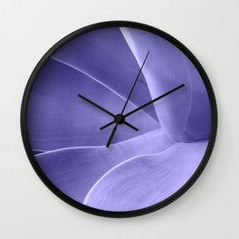 Periwinkle Succulent Wall Clock