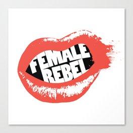 Female Rebel Canvas Print