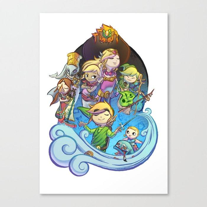 The Legend of Zelda: The Windwaker Canvas Print