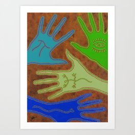 Aboriginal Hands Art Print