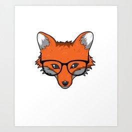 Mama Fox T Shirt Smart Foxes Lover Cute Farmer Mom Gifts Art Print
