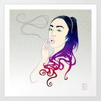 smoke Art Prints featuring Smoke by Stevyn Llewellyn