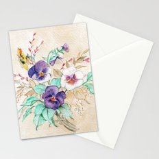 Pansies Bouquet Stationery Cards