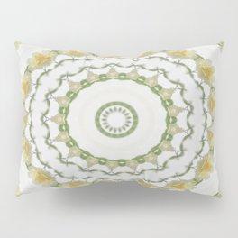Creamy Yellow Rose Kaleidoscope Art 5 Pillow Sham