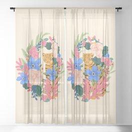 Botanical Tiger Sheer Curtain