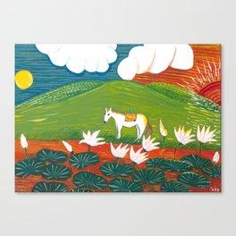 Yuko Nagamori | Hi to Tsuki no Aidani, 2011 Canvas Print