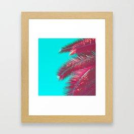 Neon Palm Framed Art Print