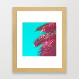 Neon Palm Framed Art Print