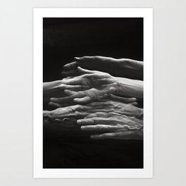 Hands - Self Portrait Art Print