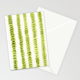 Leaf Pattern in Watercolour Stationery Cards