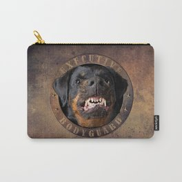 Executive bodyguard Angry rottweiler iPhone 4 5 6 7 8 x, pillow case, mugs and tshirt Carry-All Pouch