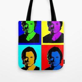 Jared Padalecki Pop Art Tote Bag