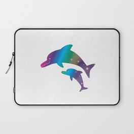 Universe  in Parent-child of dolphin_02 Laptop Sleeve