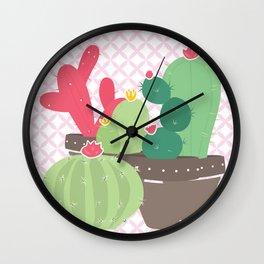 Cactus , succulent plants ,  botanical Wall Clock