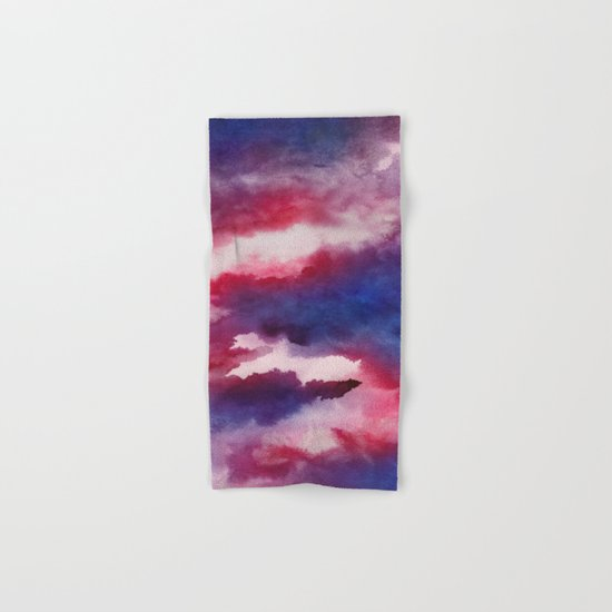 Clouds - abstract watercolor 01 Hand & Bath Towel