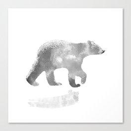 graphic bear III Canvas Print