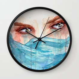 Forgotten, watercolor painting Wall Clock