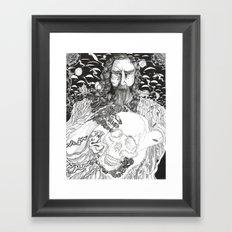 Steampunk Origin of Man Framed Art Print