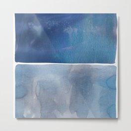 Hue in Blue Metal Print
