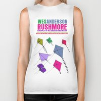 rushmore Biker Tanks featuring Rushmore Movie Poster by FunnyFaceArt