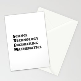 Science  Technology Engineering  Mathematics STEM Stationery Cards