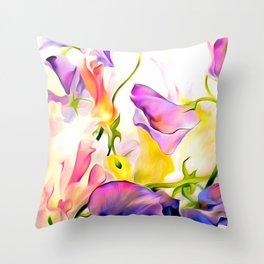 Floral Dreams Throw Pillow
