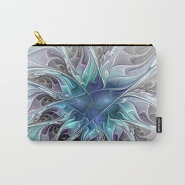Flourish Abstract, Fantasy Flower Fractal Art Carry-All Pouch