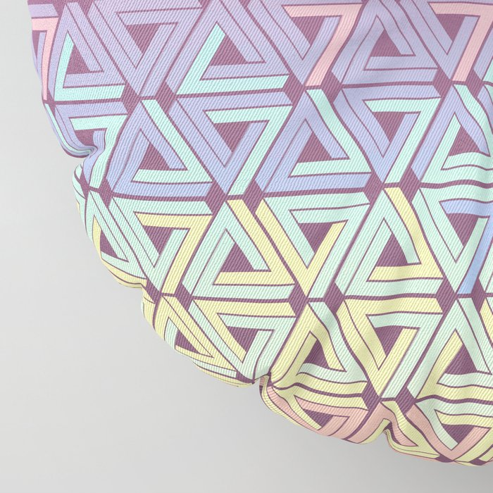 Holographic Candy Geometric Floor Pillow