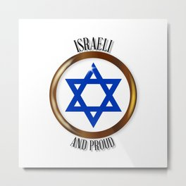 Israel And Proud Button Metal Print