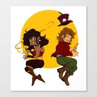 chibi Canvas Prints featuring chibi by lulu555