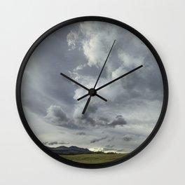Landscape Photography | Waterton, Alberta | Clouds | Sunset Wall Clock