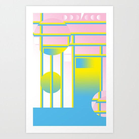Blue & Yellow ƒü†ure Art Print