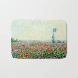 """Claude Monet """"Poppy Field"""", 1881 Bath Mat"""