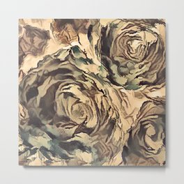 Old roses, crystals #искусство #иллюстрация #винтаж   #декор #искусство #society6 Metal Print