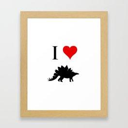 I Love Dinosaurs - Stegosaurus Framed Art Print