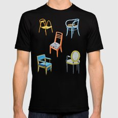 Chairs number 3 Black MEDIUM Mens Fitted Tee