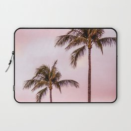 Palm Tree Photography | Landscape | Sunset Unicorn Clouds | Blush Millennial Pink Laptop Sleeve